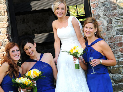 ballybeg bride and bridesmaids